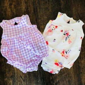 Pair of Old Navy Bubble Rompers
